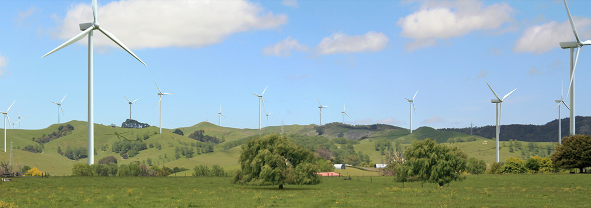 Windfarm 3D visualisation by U6 Photomontages